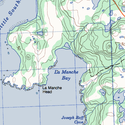 Topographic Map Of Bald Head Island
